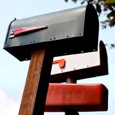 Beautiful era of rural mailboxes flag up for mail Simple signal