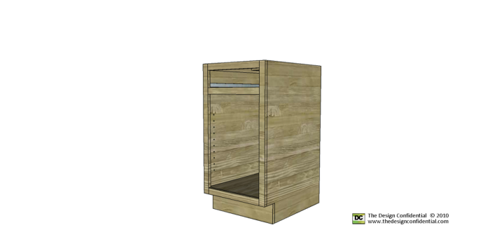 Free Woodworking Plans to Build the Easiest Base Cabinet ...