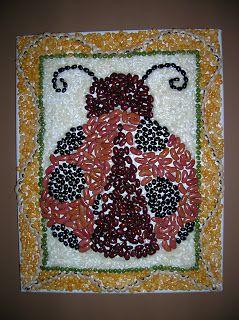 little robin: Bean Art