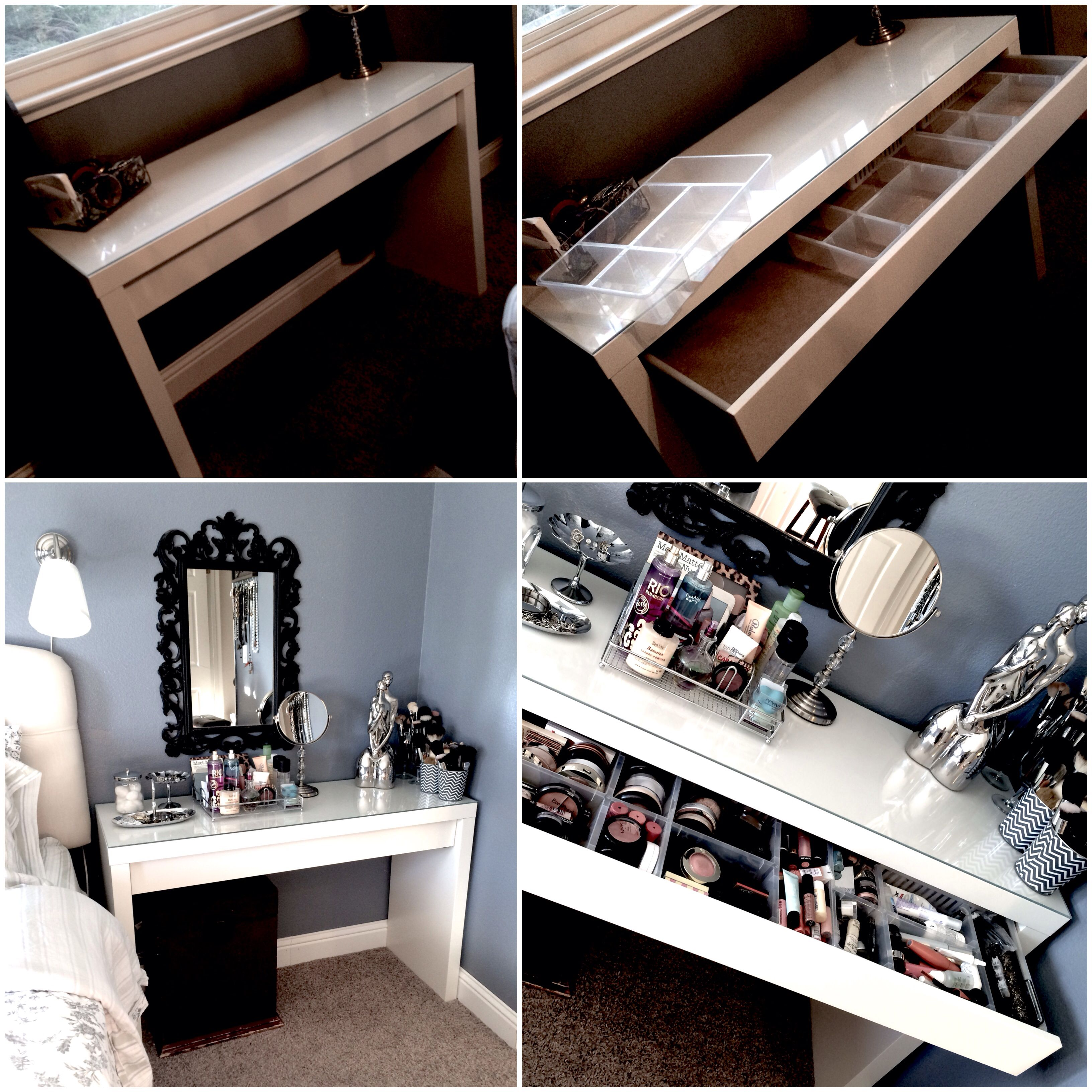 Ikea Dressing Table Side Table White In The Bedroom Keep Things Organized An