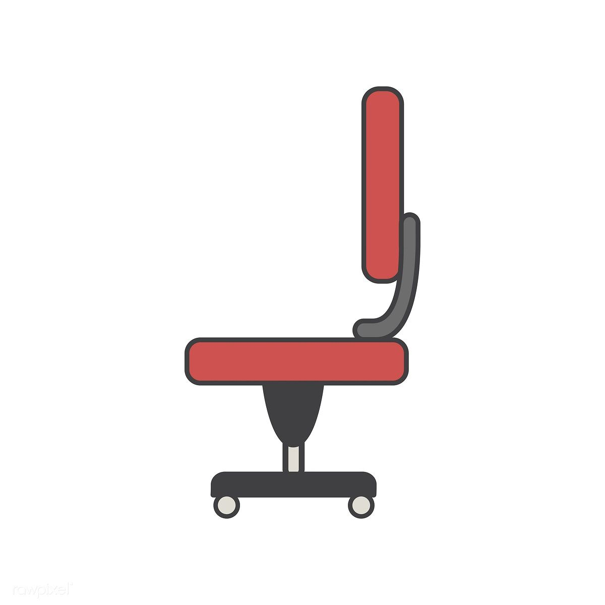 Illustration Of Office Chair Icon Free Image By Rawpixel Com Office Chair Oversized Chair Living Room Vector Free
