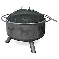 $214.99 Landmann - 28346 - Big Sky Western Motif Outdoor Decorator Fire Pit Bowl - Black - 29 in.  - See More Outdoor Fire pits at http://www.zbuys.com/level.php?node=3903=outdoor-firepits