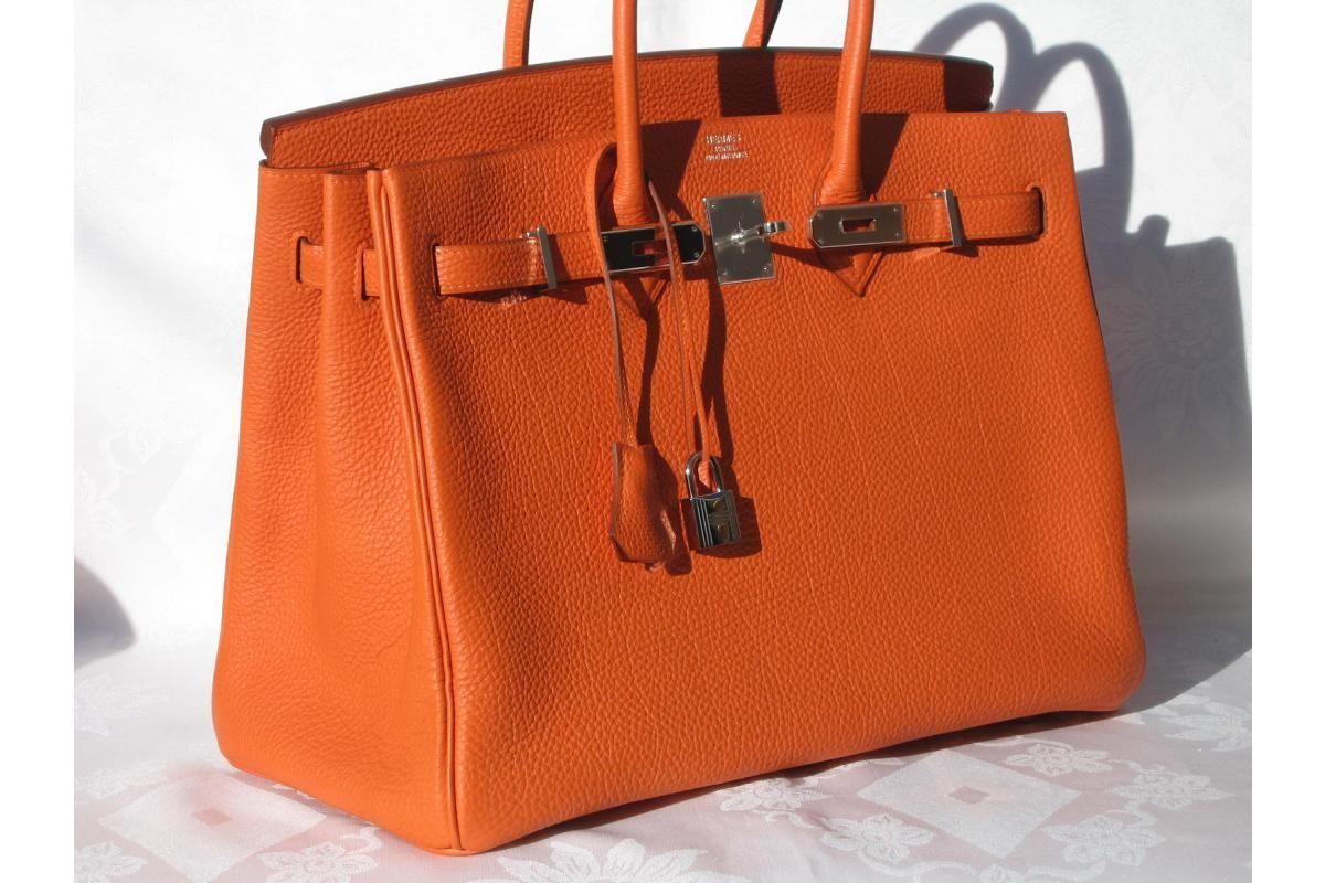 904f73a547b Orange Hermes Birkin Bag!