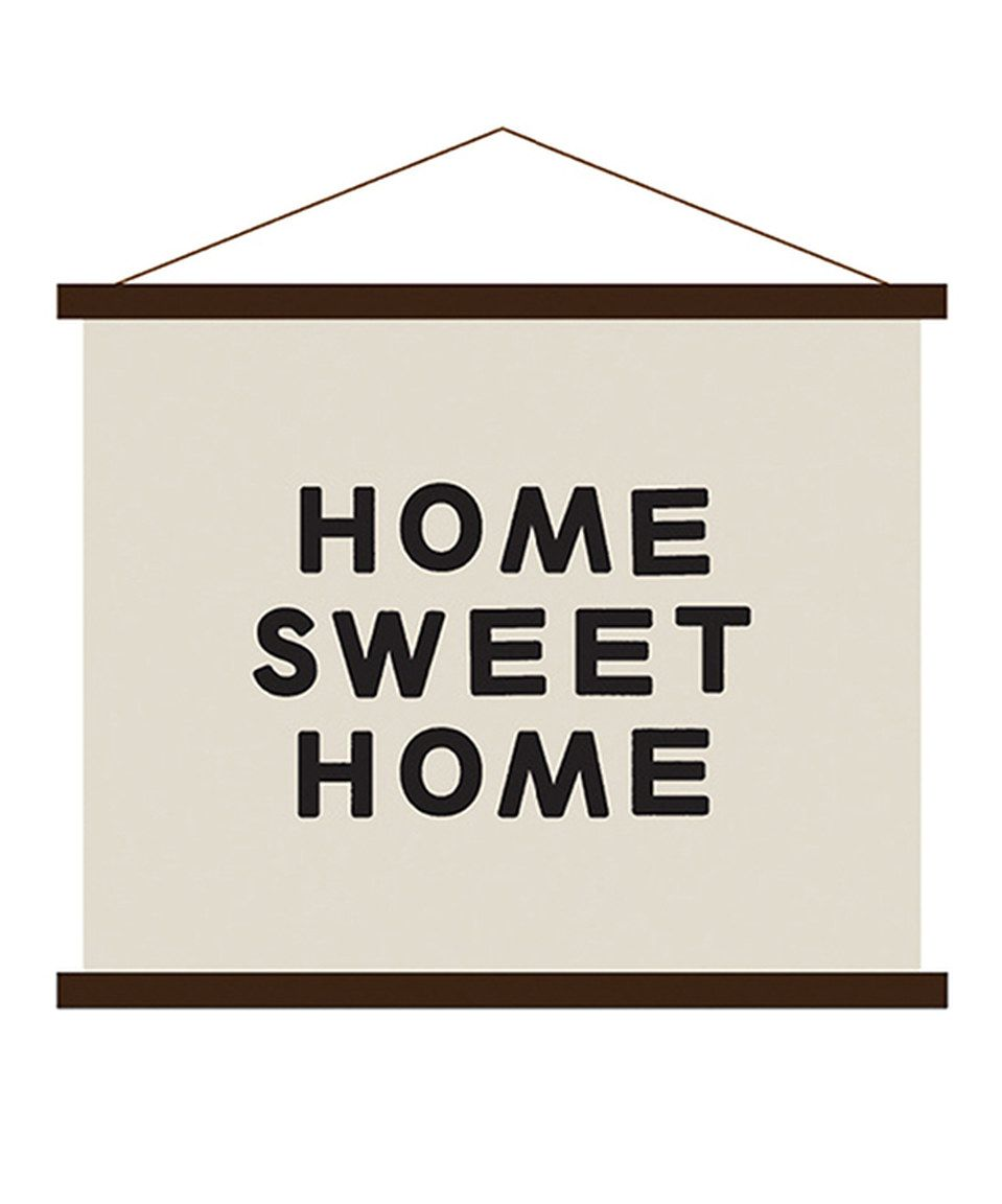 Another great find on #zulily! 'Home Sweet Home' Hand-Printed Wall Art by Hanna Andersson #zulilyfinds