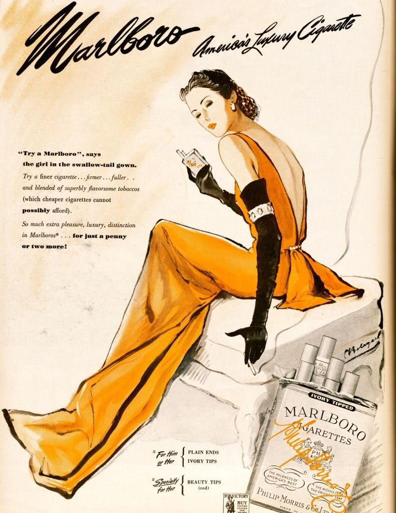 """Harper's Bazaar 1944 - """"Says the girl in the swallow-tail gown."""""""