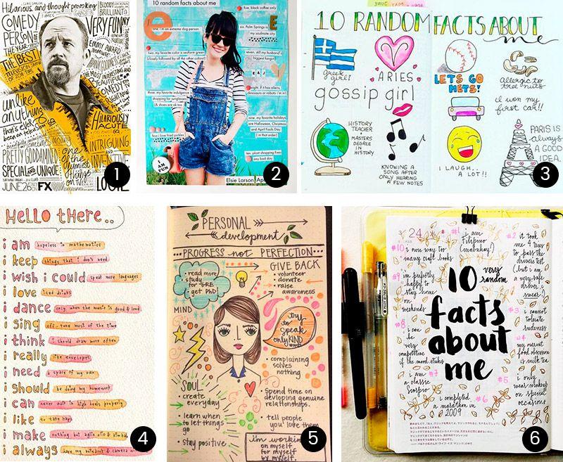 10 faits à propos de moi - Article de blogue proposant des idées inspirantes pour créer une page thématique dans son #planificateur #Chaquejourcompte