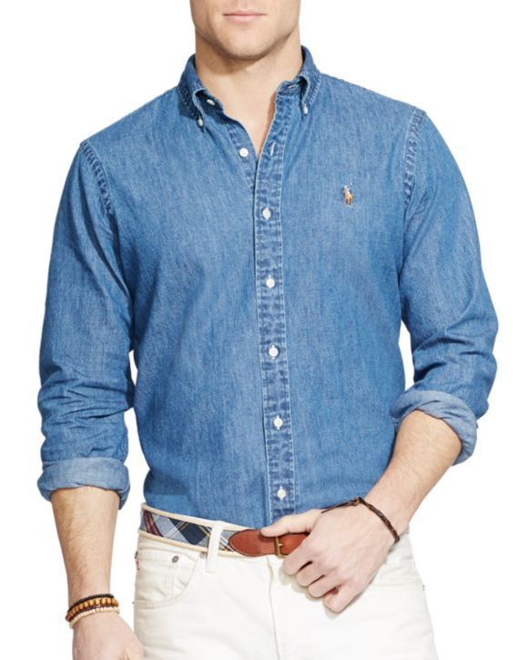 Polo Ralph Lauren Denim Button Down Shirt - Classic Fit      59.99