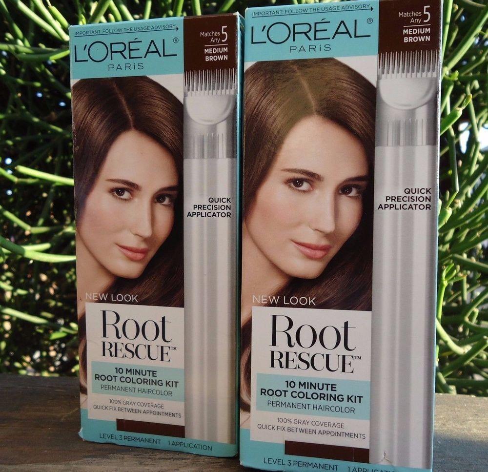 3 Loreal Root Rescue 5 Medium Golden Brown 10 Minute Hair Coloring