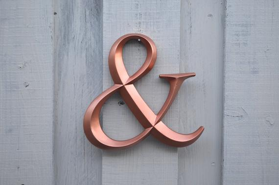 Large Ampersand Copper Wedding Decor Photo Booth Prop