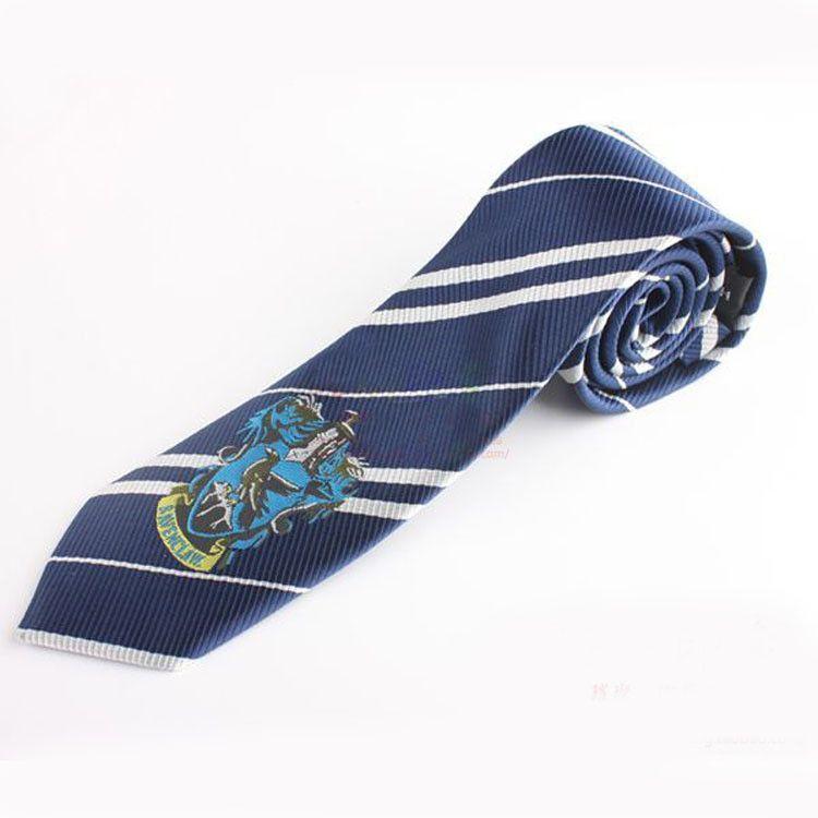 Harry Potter Tie Ravenclaw Silk Necktie Cosplay Halloween Costume New