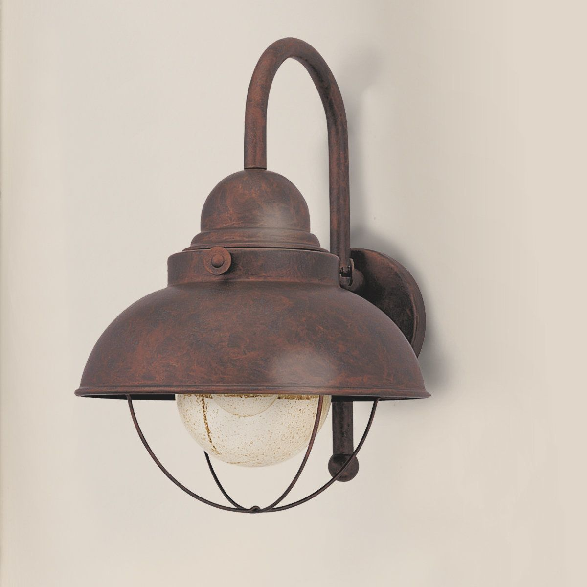 Nantucket outdoor light large antique copper and lights