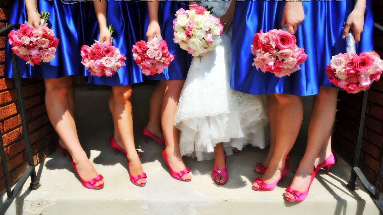 Royal Blue And Hot Pink Flowers By Patricia St Marys Ohio My