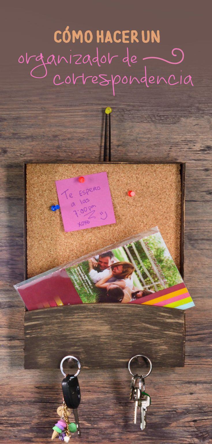 Cómo hacer un organizador de correspondencia | Pinterest ...