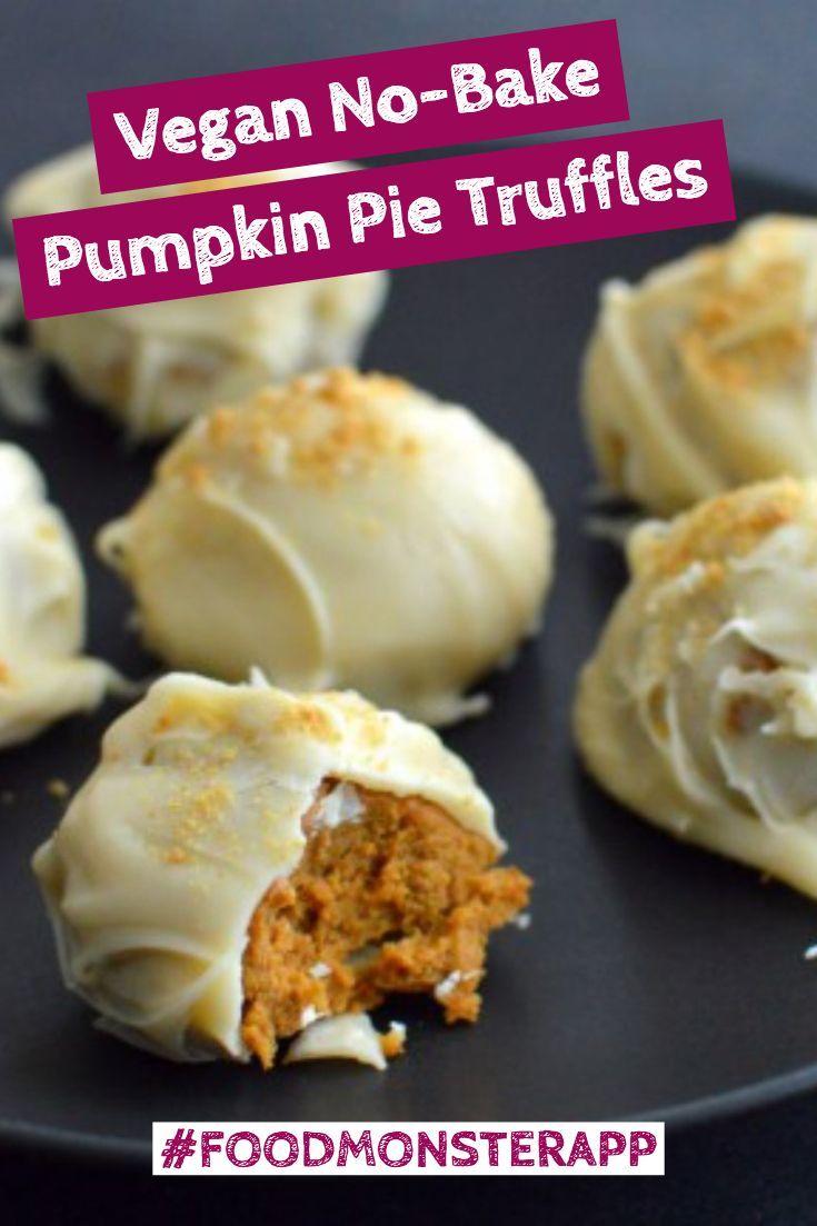 No Bake Pumpkin Pie Truffles Vegan Best Vegan Recipes