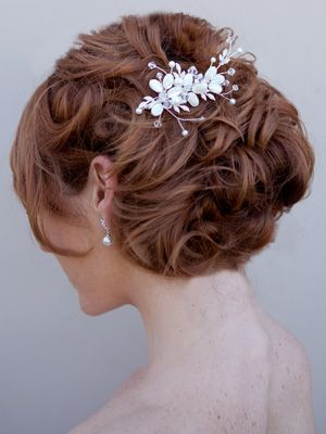 Mother of Pearl Bridal Hair Comb by Hair Comes the Bride  www.HairComestheBride.com