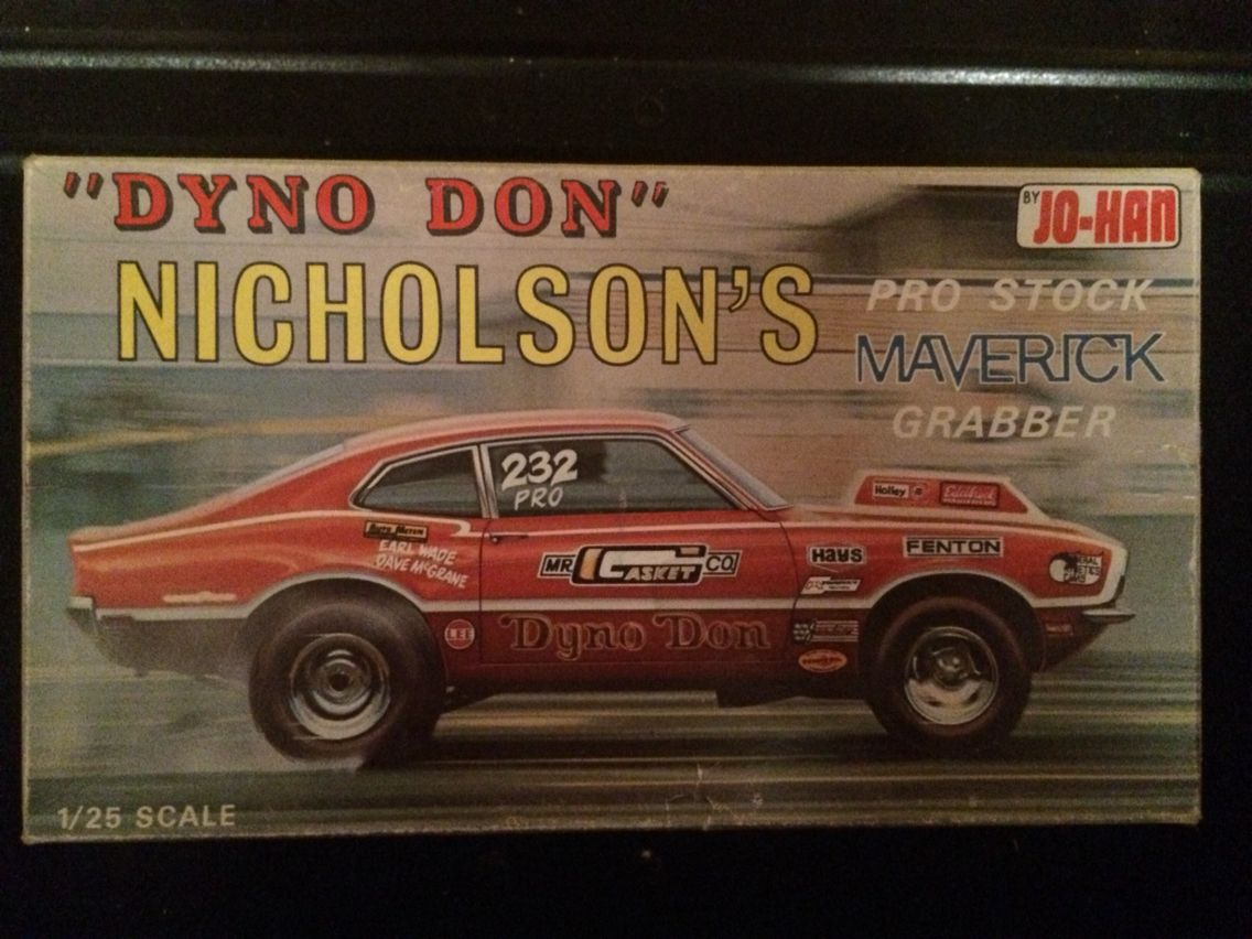 Model Kit Box Art Dyno Don Maverick Model Cars Kits Plastic