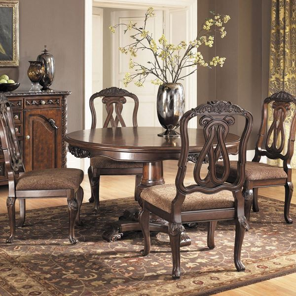 North Shore 5 Piece Round Table Set In 2020 Round Dining Room Sets Ashley Furniture Dining Dining Room Sets #north #shore #living #room #sets