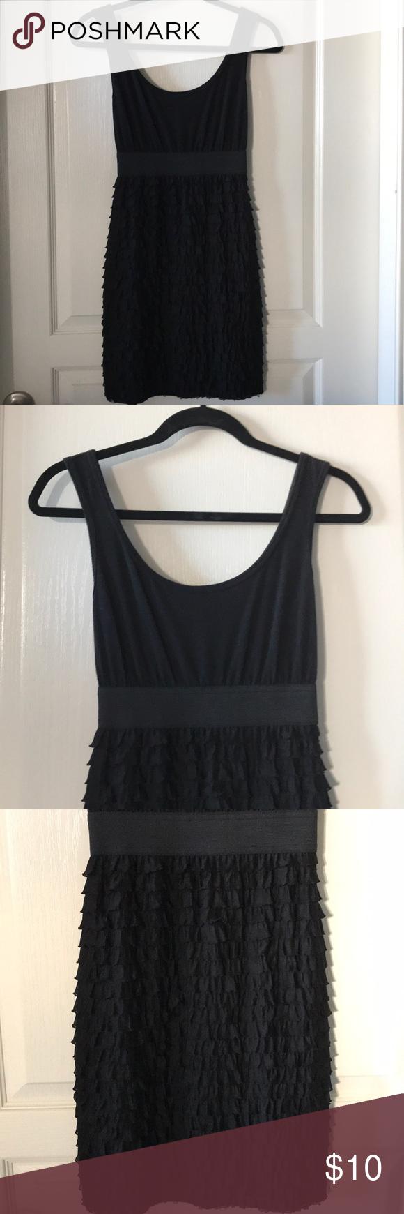 Xhilaration Black Ruffle Dress Target Brand Xhilaration Black Tank Dress With Elastic Waistline And Ruffle Bo Black Ruffle Dress Black Tank Dress Black Ruffle [ 1740 x 580 Pixel ]