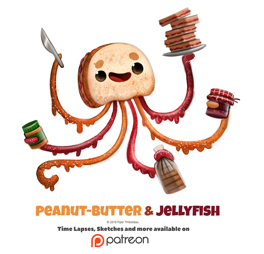 Daily 1348. Peanut-Butter And Jellyfish By Cryptid