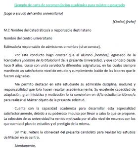 Trabajo Personal Trabajo Formato De Carta De Recomendacion Carta Recomendacion Academica Master 279x300 Png 279 300