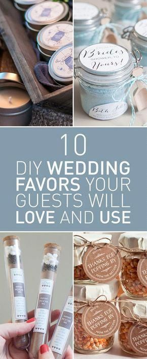 10 DIY Wedding Favors Your Guests Will Love And Use #personalizedweddingfavors