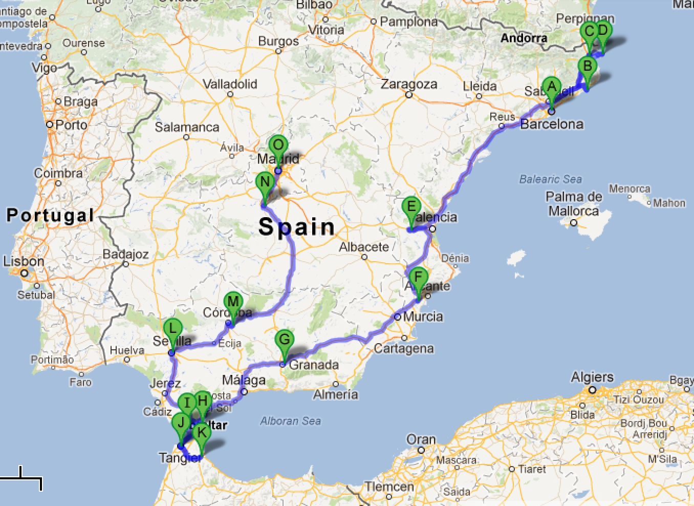 spaingibraltarmorocco road trip Road Trips Pinterest Road