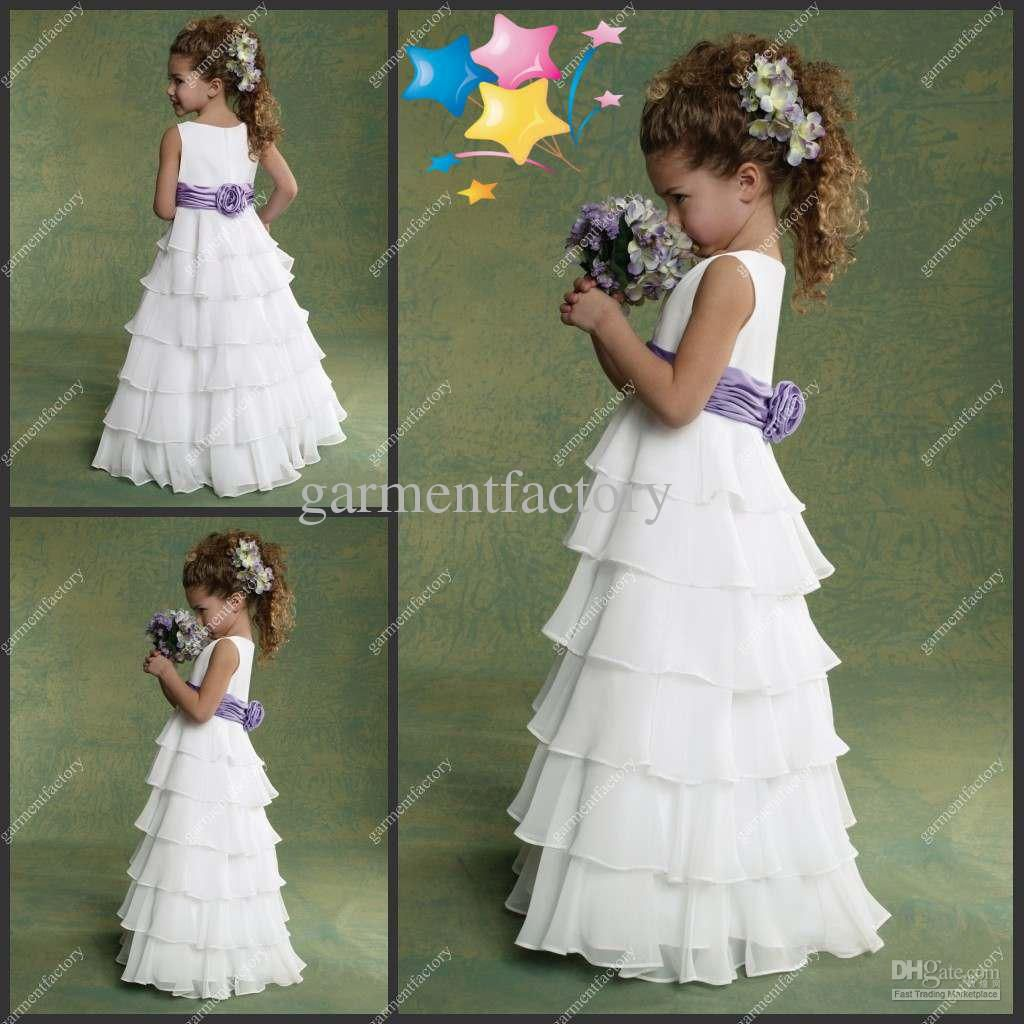 Wholesale in stock flower girls dresses patterns jewel neckilne wedding dress wholesale in stock flower girls izmirmasajfo Images
