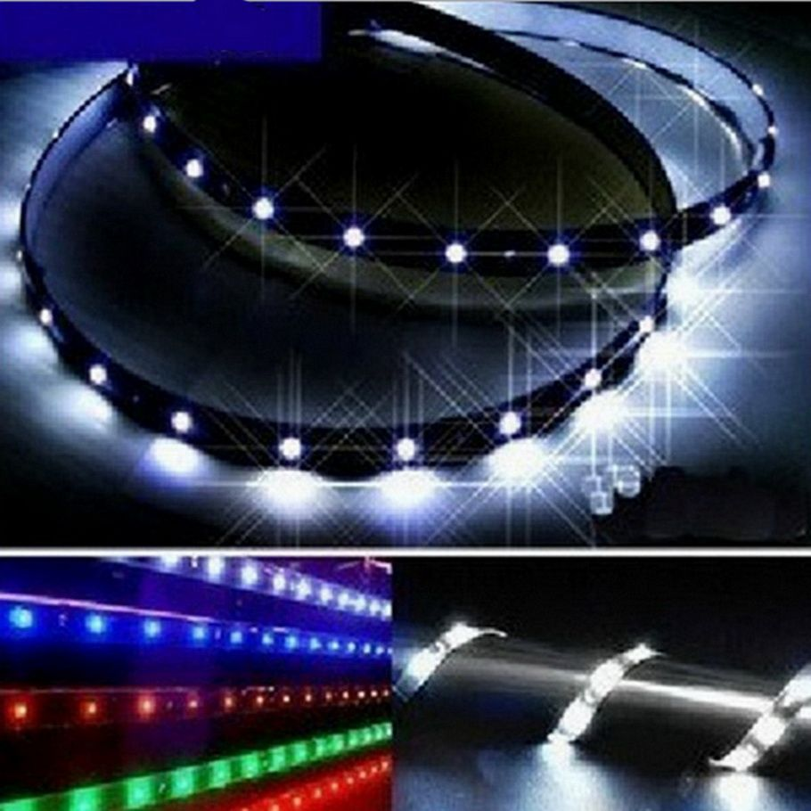 Led Strip Lights For Cars 10Pcs 12V 30Cm 15 Leds Smd Waterproof Car Auto Decorative Flexible