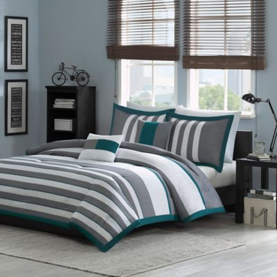 Grey Comforter Sets, Grey And Teal Bedding