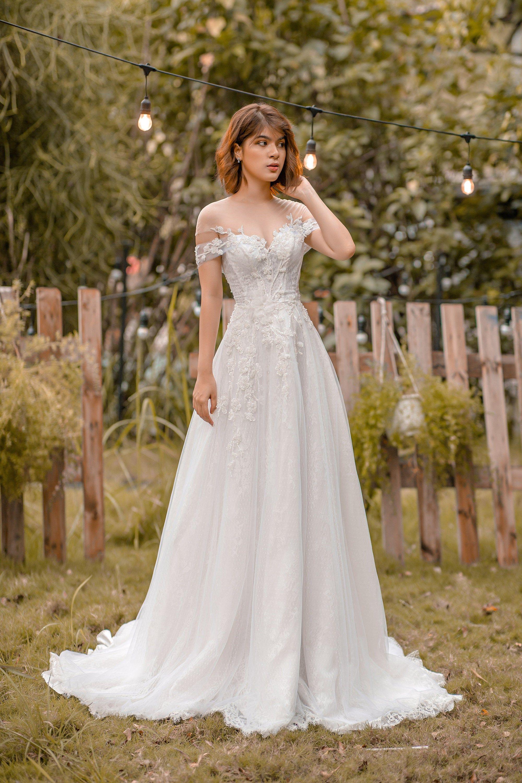 Iren Vintage Off The Shoulder Wedding Dress Summer Bridal Etsy Fit And Flare Wedding Dress Wedding Dresses A Line Wedding Dress [ 3000 x 2000 Pixel ]