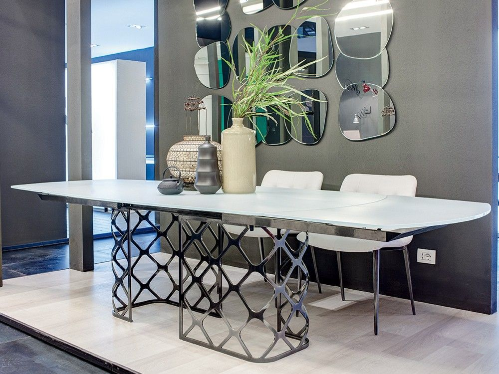 Bontempi Casa Majesty Extendable Glass Dining Tablemarco Corti Gorgeous Extendable Glass Dining Room Table Design Ideas