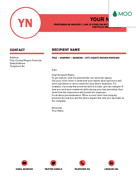Polished Cover Letter Designed By Moo Cover Letter Template Cover Letter Design Online Cover Letter