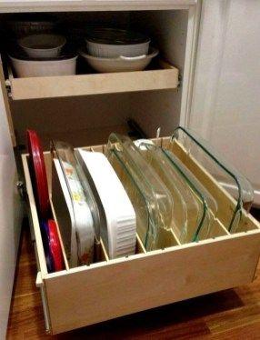 42 Breathtaking Kitchen Cabinet Organization You Must Have - decoarchi.com #cabinetorganization