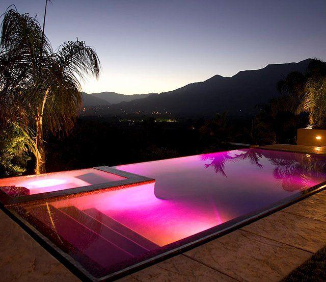 Color Splash Led Pool Light Petagadget Led Pool Lighting Pool Light Amazing Swimming Pools
