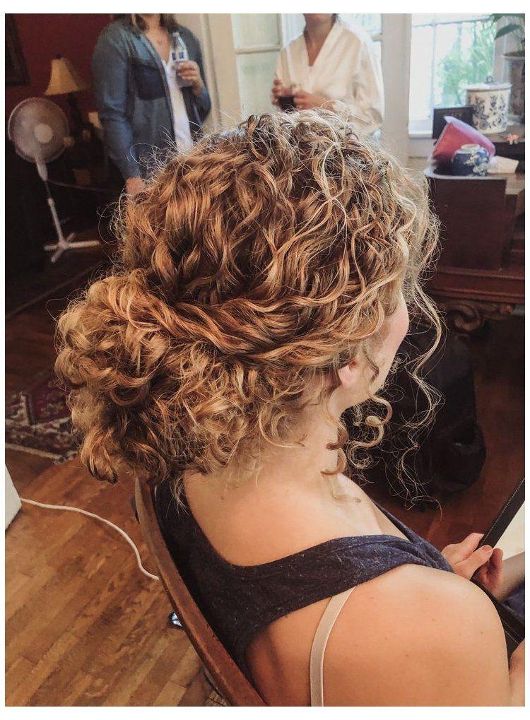 naturally curly bridesmaid hairstyles