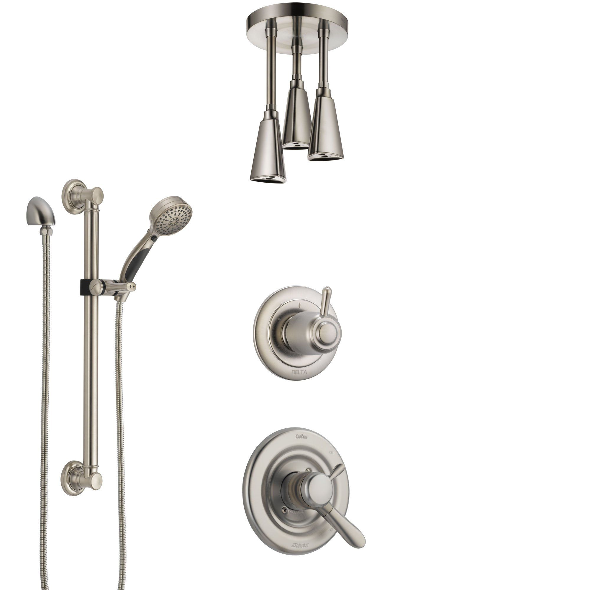 Delta Lahara Dual Control Handle Stainless Steel Finish Shower