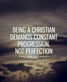 Being a Christian. ..