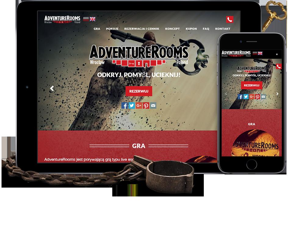 Strona internetowa dla polskiej firmy Adventure-rooms http://wezom.pl/services/opracowanie-ekskluzywnej-strony-internetowej