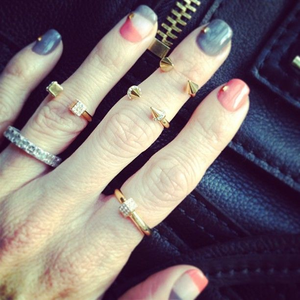 Love the nails and the rings!!.....\
