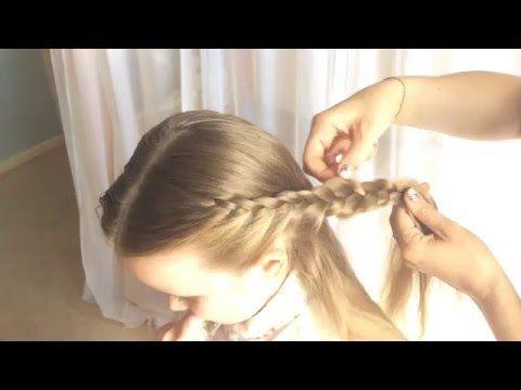 طريقه بسيطه لعمل ضفيرة شعر جدايل للبنات تسريحه للاطفال فروزن Hair Beauty Beauty Hair