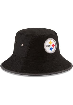 a9a5ab9d5 New Era Pittsburgh Steelers Black 2017 Official Training Mens Bucket ...