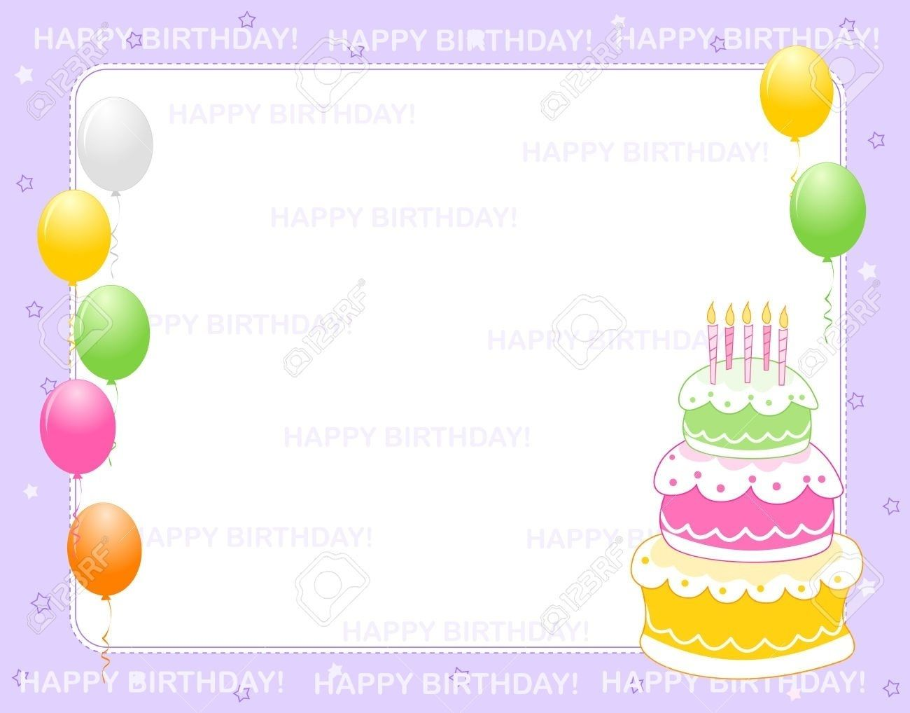 Birthday Invitation Card Background Invitatio On Birthday