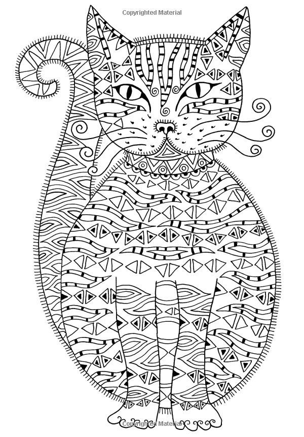cat painting | COLORING PAGES-BOOKS FOR ADULTS | Pinterest ...
