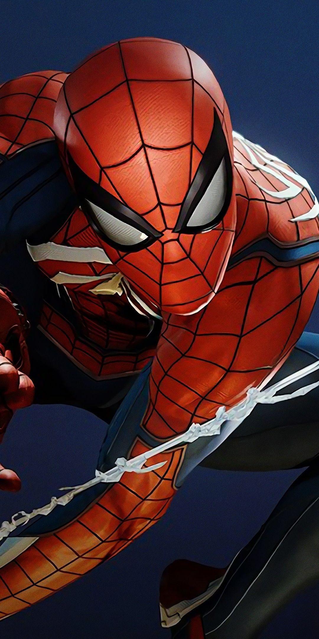 Artwork, superhero, Spiderman (PS4), fan art, 1080x2160