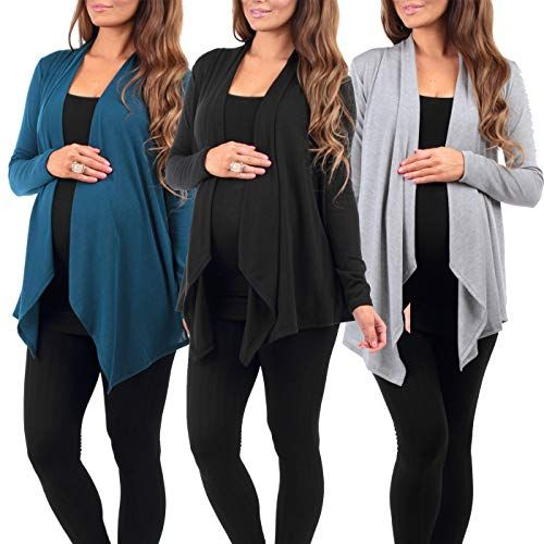 68248062a6eab New Rags and Couture 3 Pack Women's Hacci Maternity and Nursing Cardigan -  Made in USA Women's Fashion Clothing online. Women's Fashion [$39.95] ...