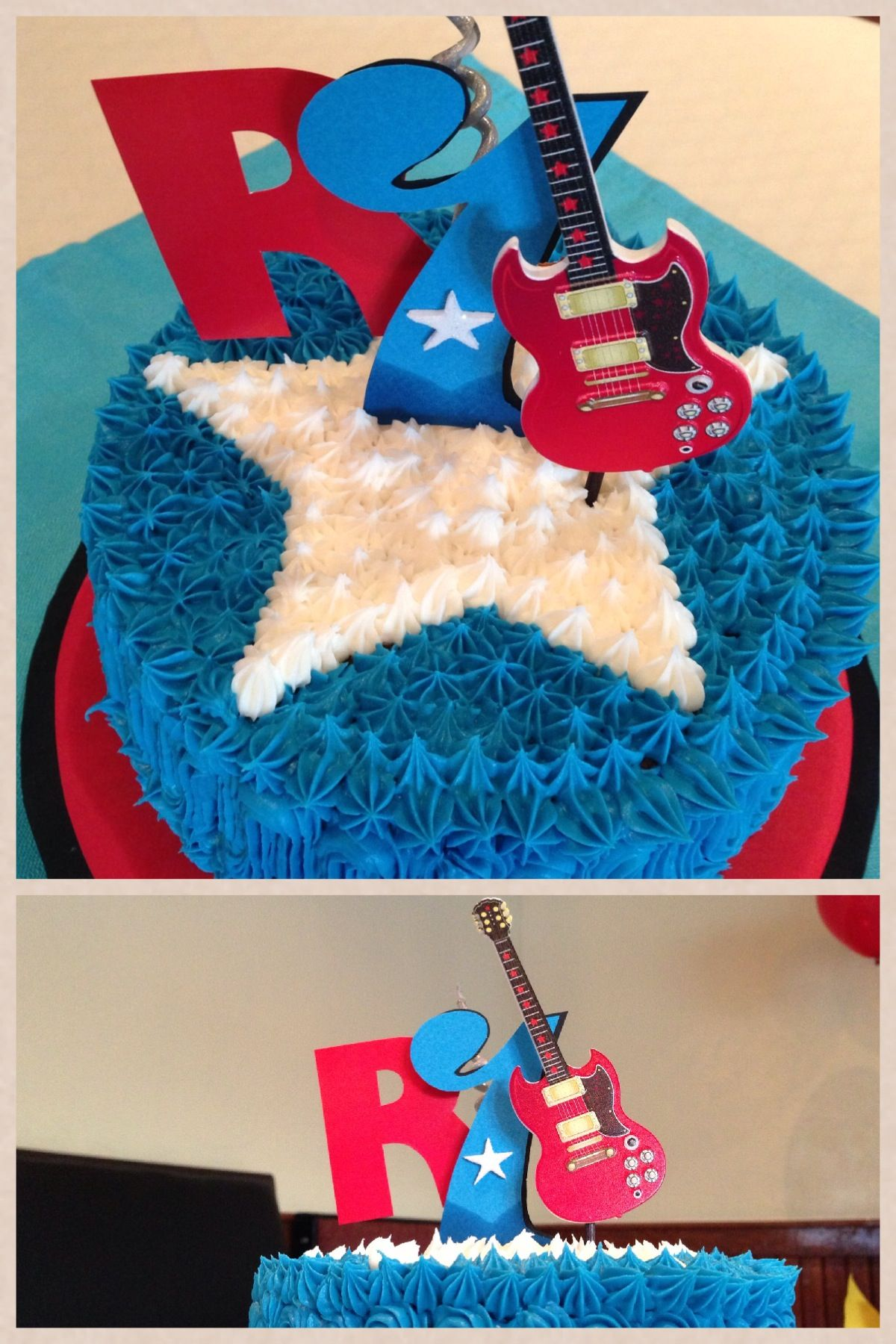 Just Rock N Roll and Smash cake wwwtrendyfunpartycom AtlantaGA