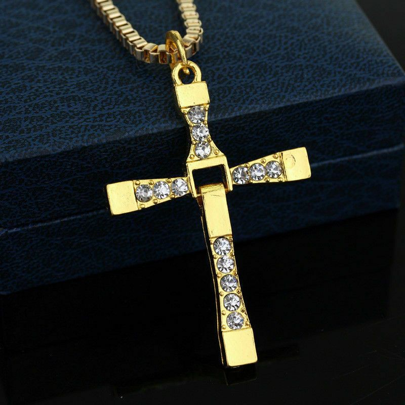 ebe40fbfc8904 Fast and The Furious Dominic Toretto's Necklace Cross Pendant W/ 22 ...