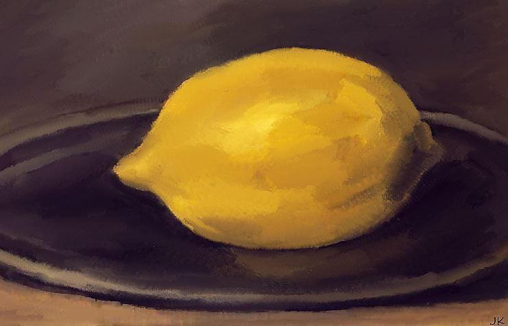 Lemon inspiration from Manet.