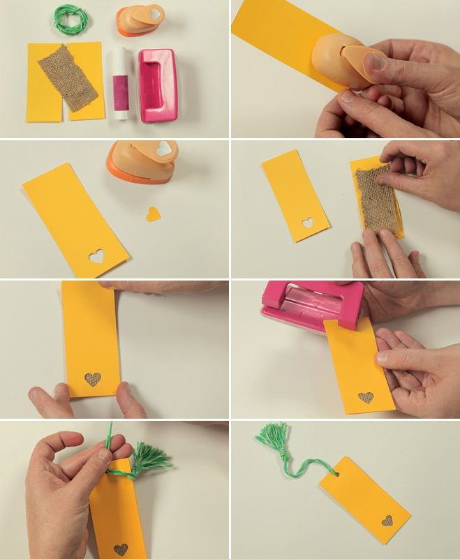 Marvelous Bookmark Craft Ideas For Kids Part - 8: Valentines Day Crafts Kids Can Make Bookmark Paper Burlap Cut-outs Easy  Ideas