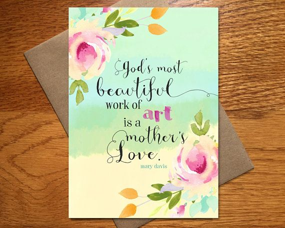 Mothers Day Card Every Spirit Love Mother Daughter Pretty For Mom Gratef